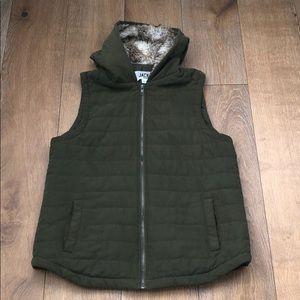 Jack by BB Dakota Hey-Ya Fur Hooded Vest